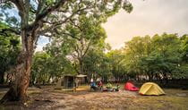 Campers at Bittangabee campground, Ben Boyd National Park. Photo: J Spencer/OEH
