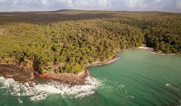 Aerial view of Ben Boyd National Park coastline. Photo: John Spencer/DPIE