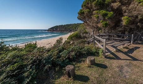 Terrace Beach and Lennards Island, Ben Boyd National Park. Photo: John Spencer