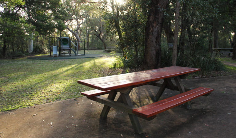Barnetts lookout picnic table and children's play area. Photo: John Yurasek