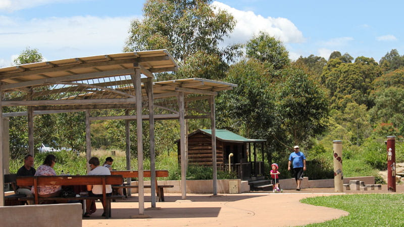 Playground and shelter, Blue Gum Hills Regional Park. Photo: John Yurasek