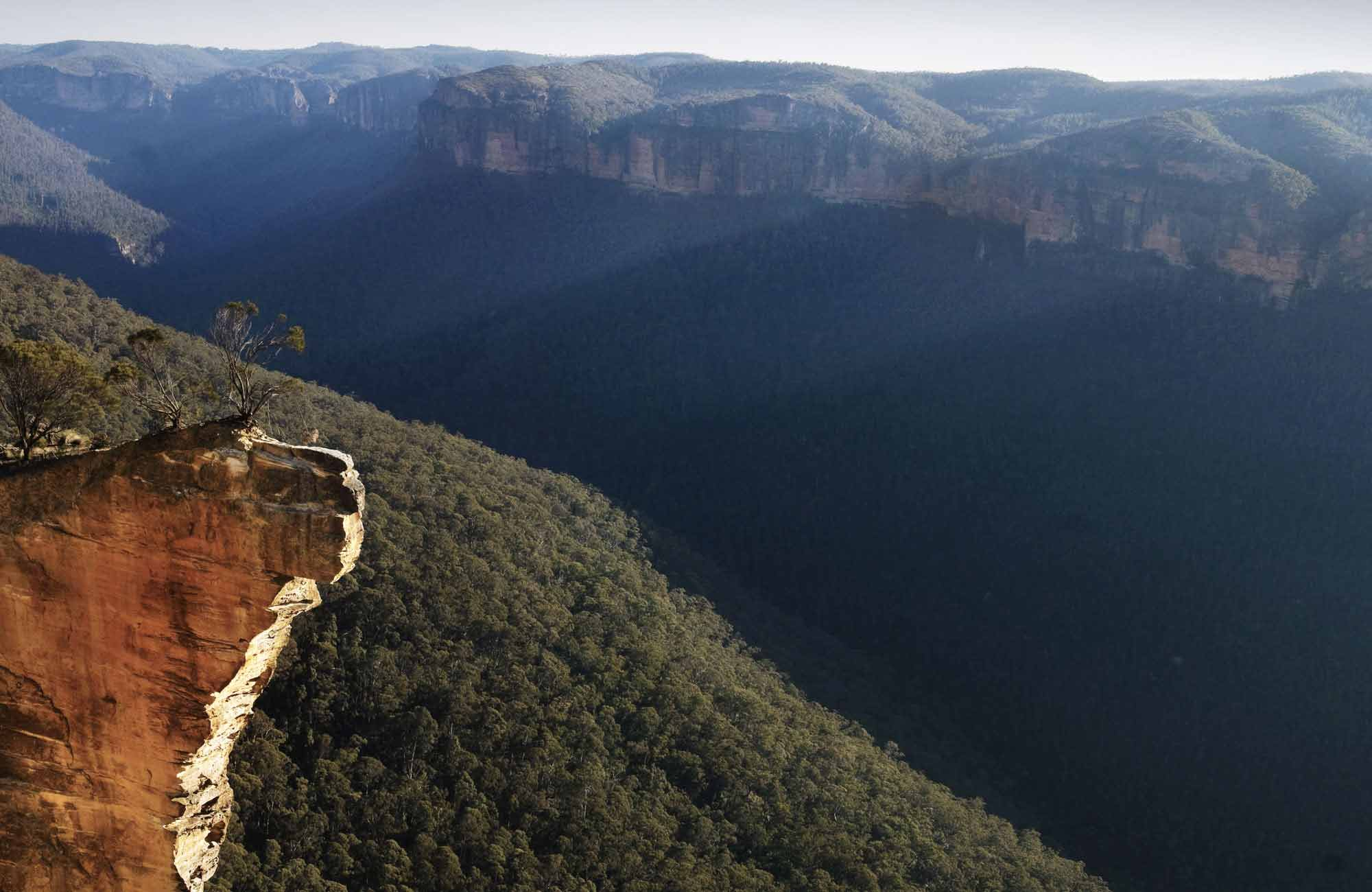 Hanging rock, Blue Mountains National Park. Photo: David Finnegan/OEH