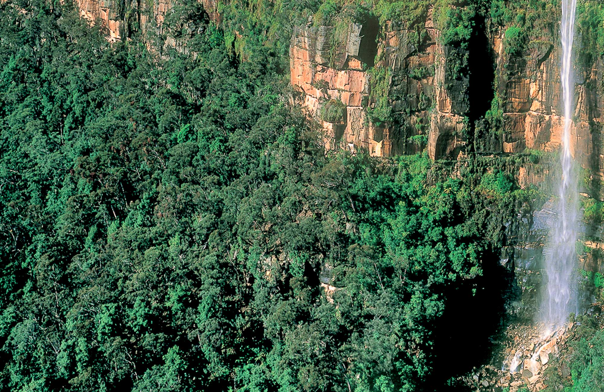 Govetts Leap waterfall, Blackheath, Blue Mountains National Park. Photo: Steve Alton/OEH