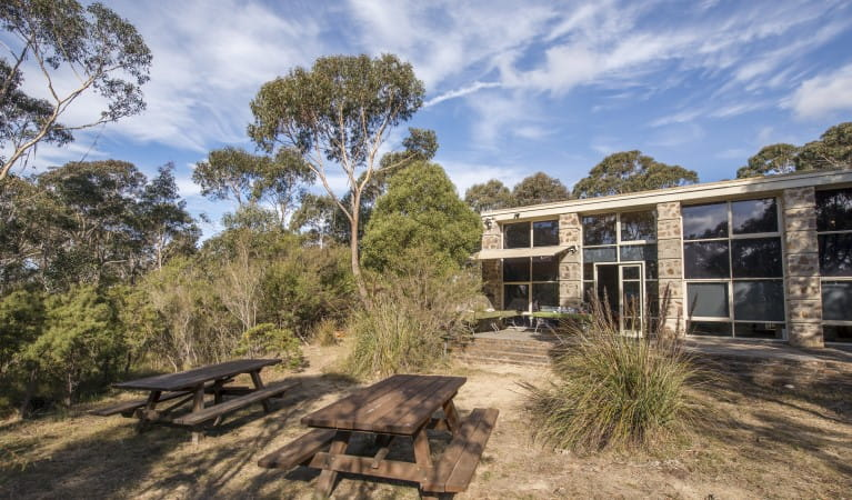 Wall displays at Blue Mountains Heritage Centre, Blue Mountains National Park. Photo: John Spencer/OEH.