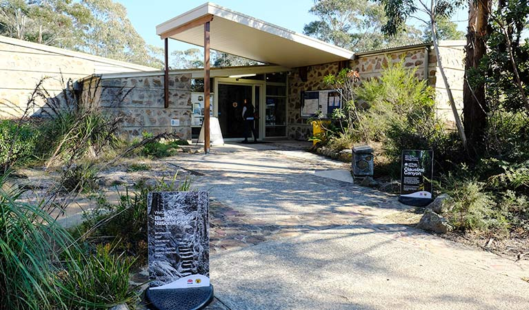 Entry to Blue Mountains Heritage Centre, Blackheath, Blue Mountains National Park. Photo: E Sheargold/OEH.