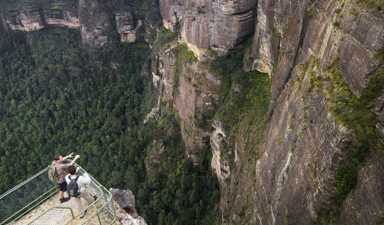 Pulpit Rock lookout, Blue Mountains National Park. Photo: David Finnegan