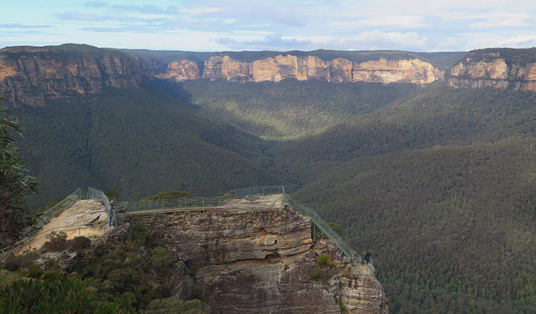 Pulpit Rock lookout, Blue Mountains National Park. Photo: E Sheargold/OEH