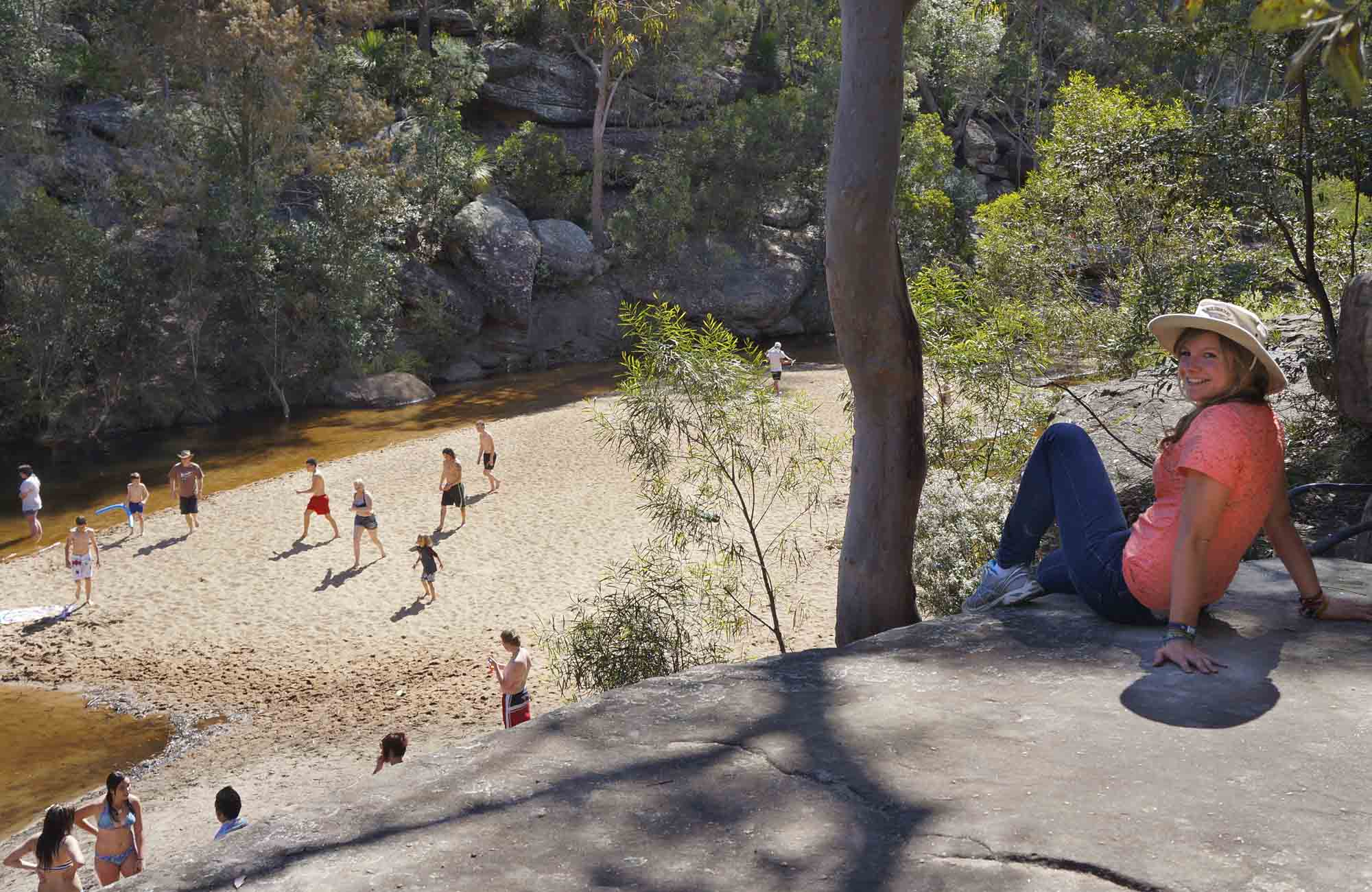 Jellybean Pool, Jellybean Track, Blue Mountains National Park. Photo: Steve Alton/NSW Government