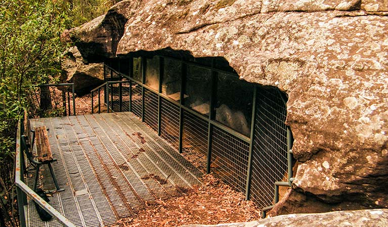Red Hands Cave, Blue Mountains National Parks. Photo: Craig Marshall/NSW Government