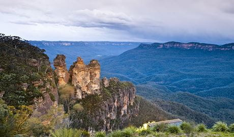 Three Sisters iconic rock formation, Katoomba, Blue Mountains National Park. Photo: David Finnegan/OEH