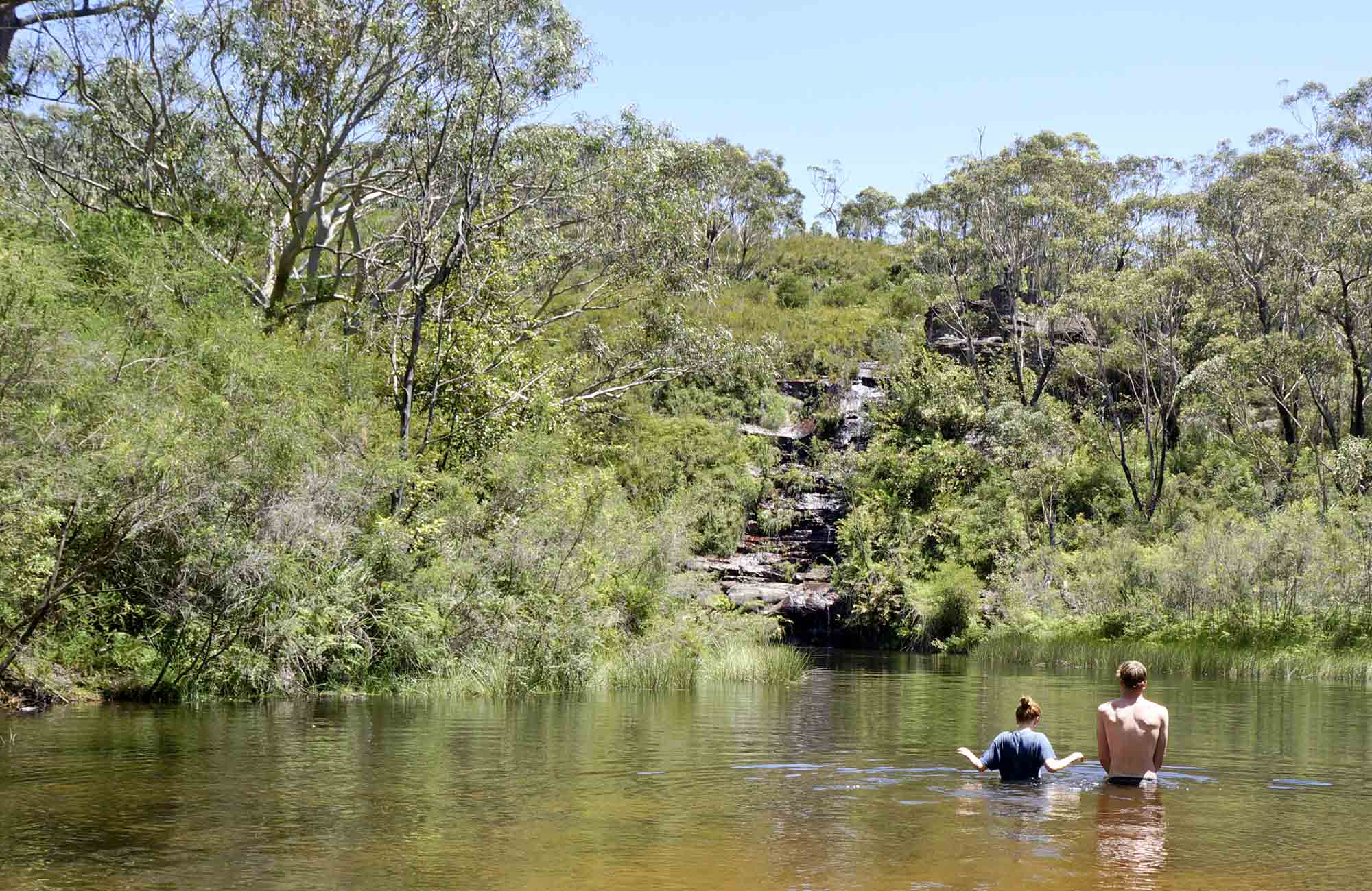 Natural pool near Ingar campground, Blue Mountains National Park. Photo: Steve Alton/OEH