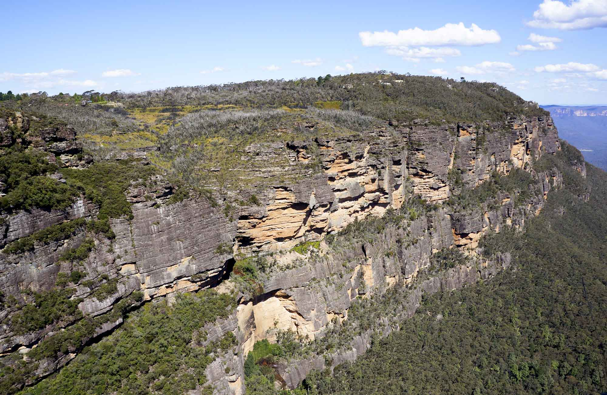 Escarpement views along Prince Henry Cliff Walk, Blue Mountains National Park. Photo: Steve Alton/OEH