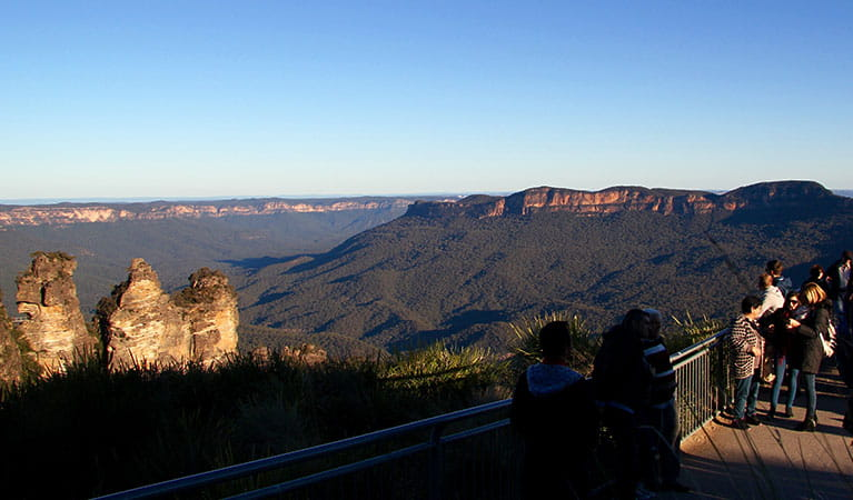 Echo Point Lookout, Three Sisters, Blue Mountains National Park. Photo: Natasha Webb