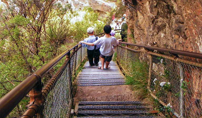 Echo Point to Scenic World via Giant Stairway walk, Blue Mountains National Park. Photo: Steve Alton