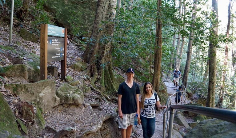 Echo Point to Scenic World via Giant Stairway Walking Track, Blue Mountains National Park