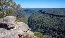 View of Grose River from Faulconbridge Point, Blue Mountains National Park. Photo: Steve Alton/OEH