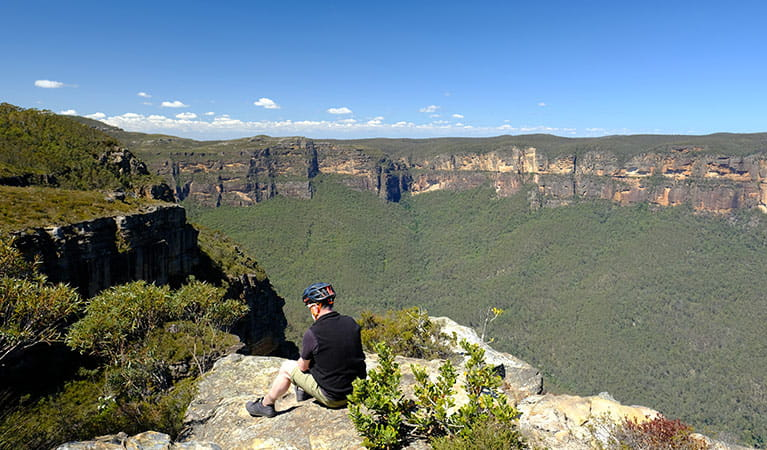 Viewpoint along Mount Banks Road trail extension, Blue Mountains National Park. Photo: E Sheargold/OEH