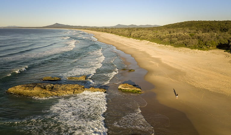 The coastline near Tuckers Rocks Cottage, Bongil Bongil National Park. Photo: John Spencer/DPIE