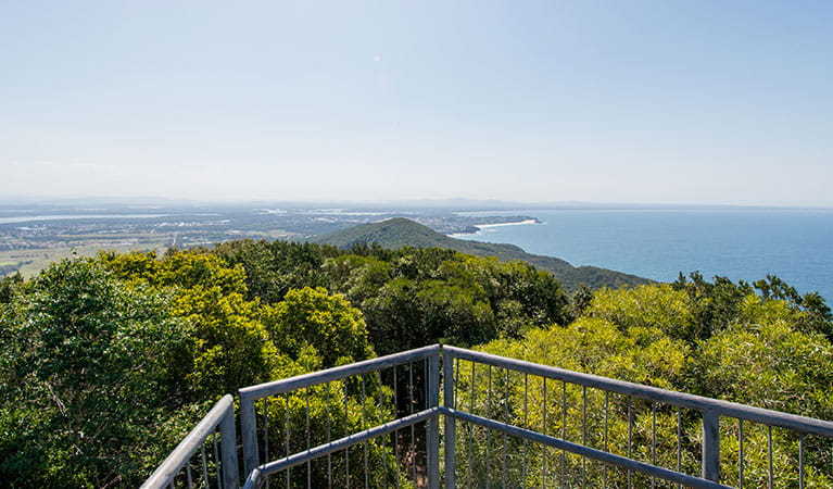 Coastal views from Cape Hawke lookout in Booti Booti National Park. Photo credit: John Spencer © DPIE