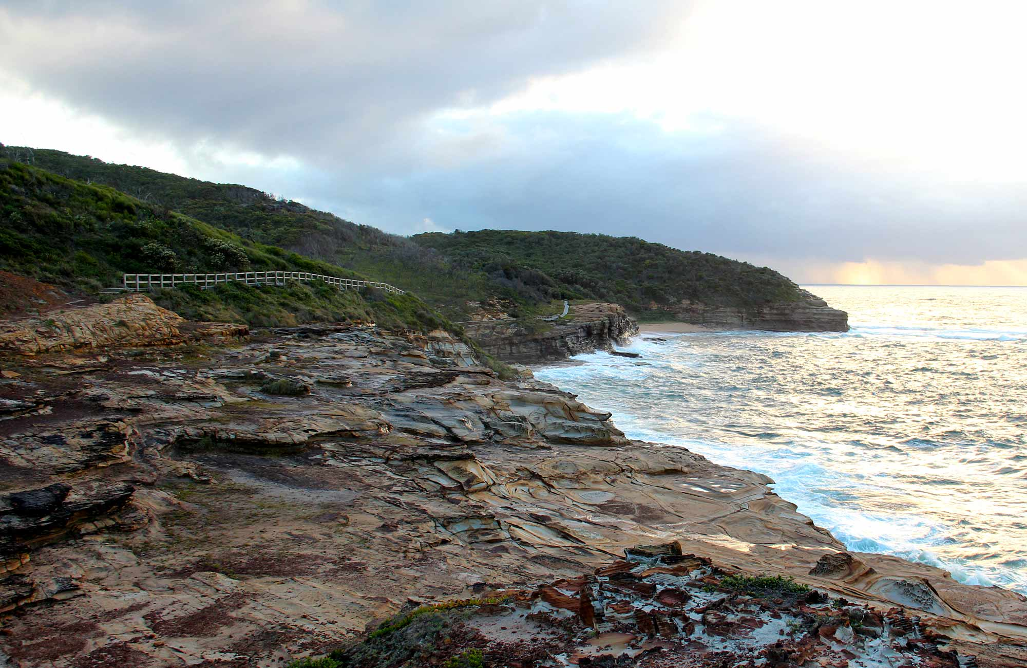 Looking along the rock coastline. Photo: John Yurasek