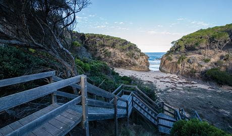 Staircase leading to the beach at Turingal Head. Photo: John Spencer/DPIE