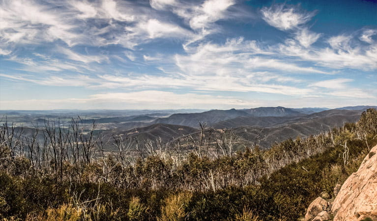 Corre lookout, Brindabella National Park. Photo: Murray van der Veer/NSW Government