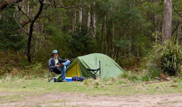 Long Gully campground, Budawang National Park. Photo: Lucas Boyd