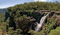 View of Carrington Falls waterfall, Budderoo National Park. Photo credit: Michael Van Ewijk &copy DPIE