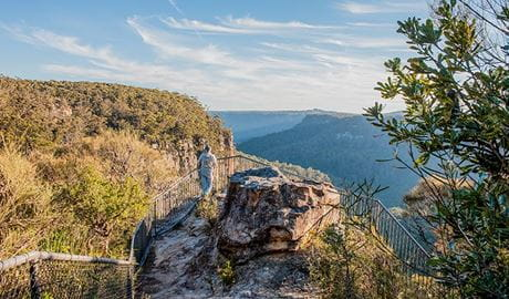 Warris Chair lookout walking track, Budderoo National Park. Photo credit: Michael Van Ewijk © DPIE