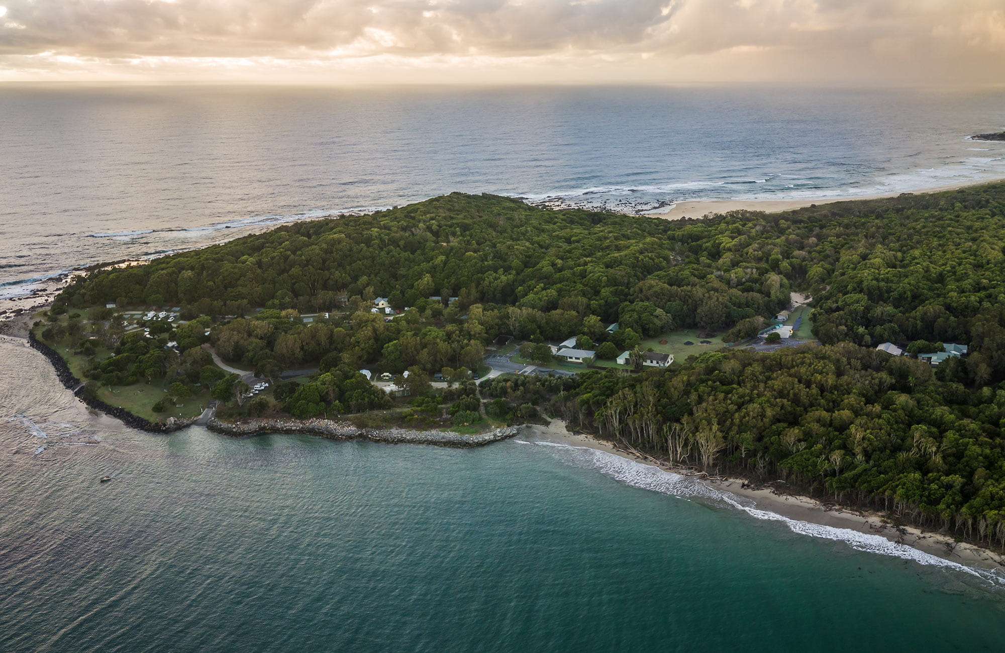 Aerial view of Woody Head, Iluka, Bundjalung National Park. Photo: J Spencer/OEH