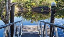 Ramp leading down into the water in Bundjalung National Park. Photo: Rob Cleary