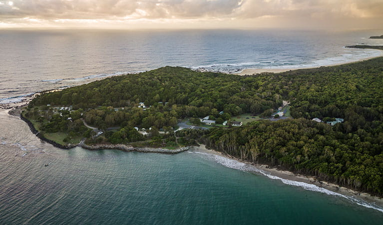 Aerial view of Woody Head, Bundjalung National Park. Photo: J Spencer/OEH