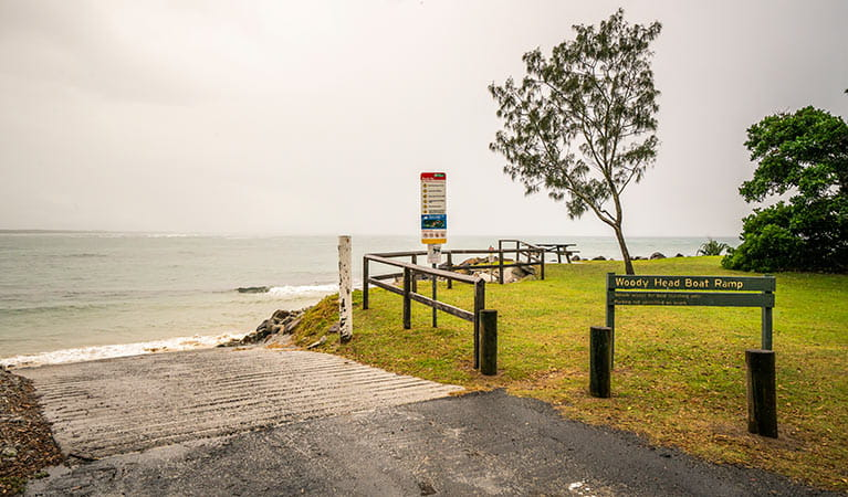 The boat ramp at Woody Head campground, Bundjalung National Park. Photo: John Spencer/OEH