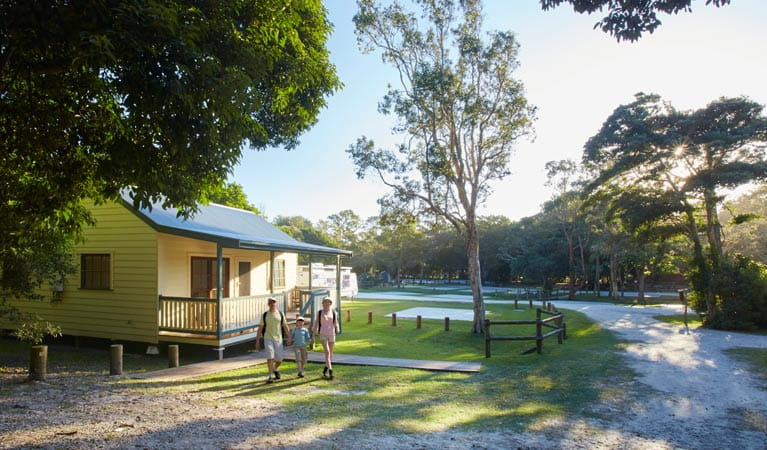 Woody Head cabins and cottages, Bundjalung National Park. Photo: N Cubbin/OEH.
