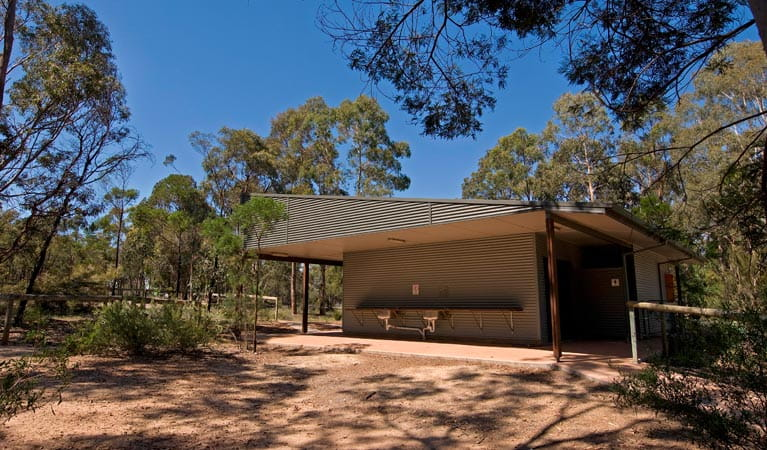 Amenities Block, Bungonia Campground, Bungonia National Park. Photo: Ford Kristo/NSW Government