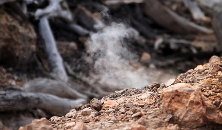 Burning Mountain Nature Reserve, underground coal seam. Photo: Brent Mail