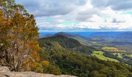 View from Red Rocks trig walking track, Cambewarra Range Nature Reserve. Photo: J Devereaux