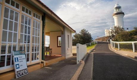 Cape Byron Information Centre, Cape Byron State Conservation Area. Photo: Lee Middleton/DPIE