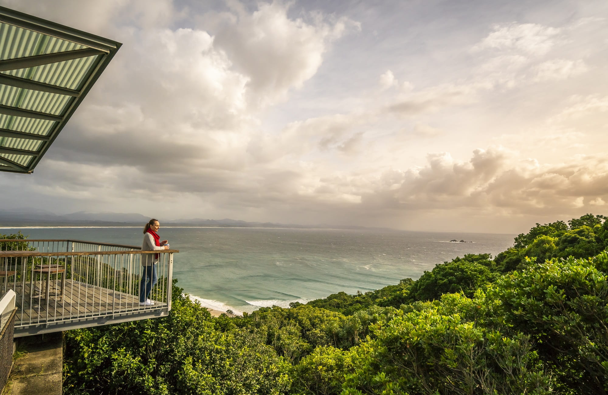 View from the deck at Cape Byron Lighthouse Cafe. Photo: John Spencer/OEH