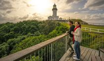 Outlook from the deck at Cape Byron Lighthouse Cafe. Photo: John Spencer/OEH