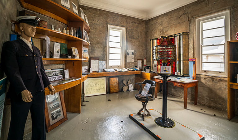 Historical displays at Cape Byron Lighthouse Museum, Cape Byron State Conservation Area. Photo: John Spencer/OEH.