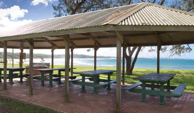 Woolgoola Beach Picnic Area Shelters. Photo: Rob Cleary