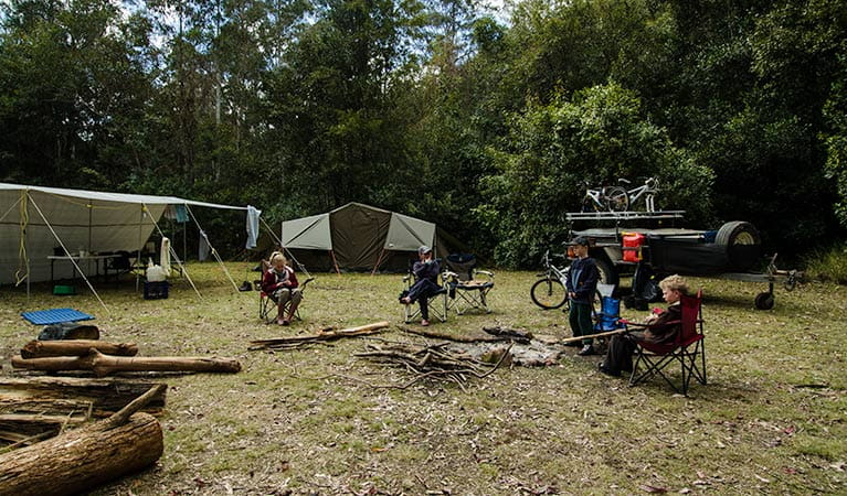 Maxwells Flat campground, Cottan-Bimbang National Park. Photo: John Spencer/NSW Government