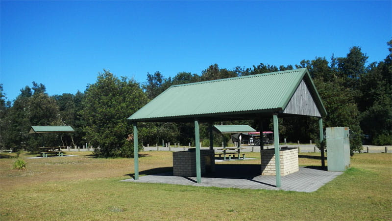 Barbecue facilities at Crowdy Gap Cultural campground. Photo: Debby McGerty