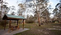 Berlang campground shelter, Deua National Park. Photo: Lucas Boyd Copyright:NSW Government