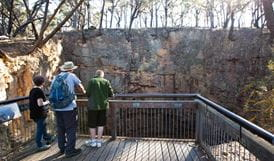 The Big Hole walking track lookout, Deua National Park. Photo: Lucas Boyd