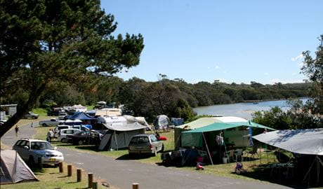 Campers at Congo campground in Eurobodalla National Park. Photo: © Christina Bullivant