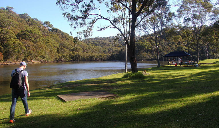 People by the river at Davidson picnic area in Garigal National Park. Photo: Natasha Webb/OEH