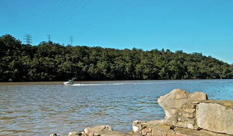 Someone waterskiing in Georges River National Park. Photo: John Spencer