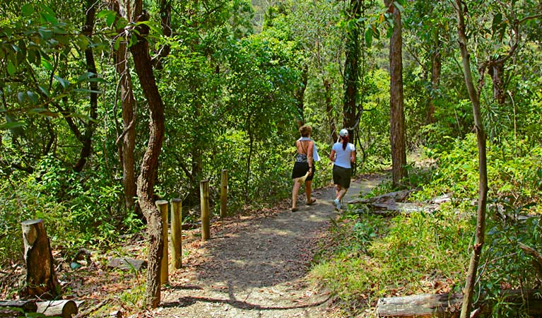 Walkers along Yuelarbah walking track, Glenrock State Conservation Area. Photo: Shaun Sursok/OEH